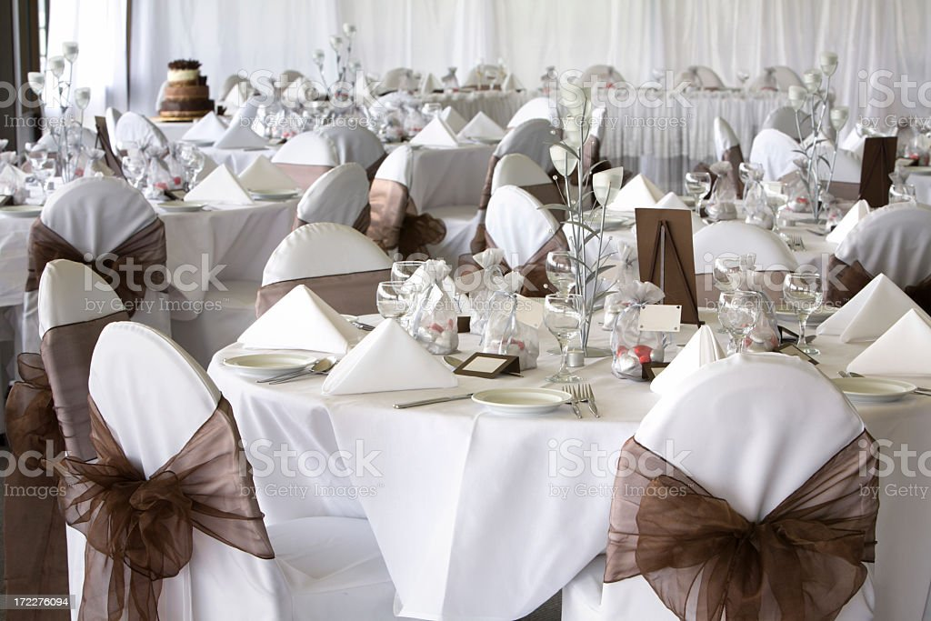 Classy Wedding Reception 3 royalty-free stock photo