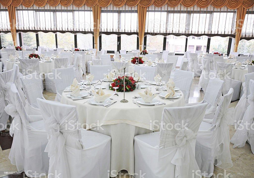 Classy Wedding Reception royalty-free stock photo