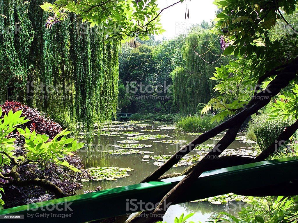 Claude Monet's gardens, Giverny, France stock photo
