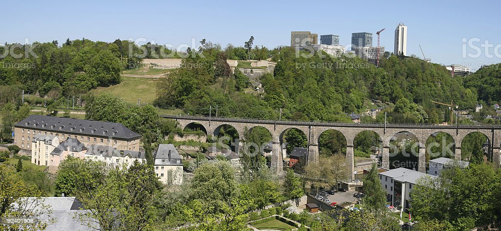 Clausen Viaduct, Luxembourg royalty-free stock photo