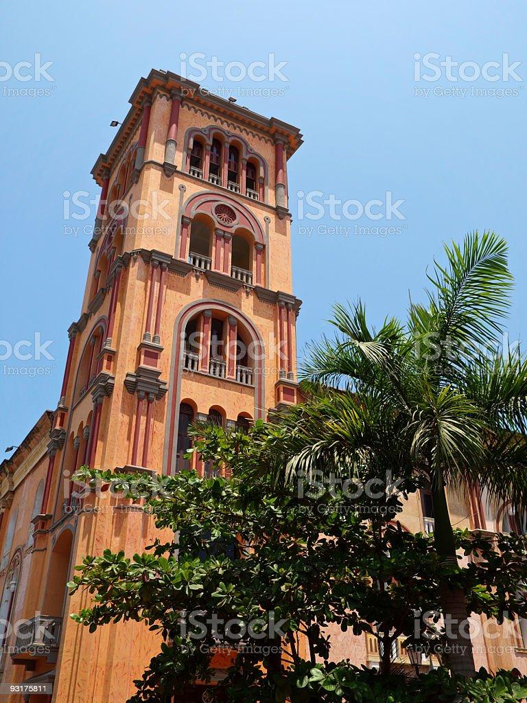 Claustro de San Agustin Cartagena in Colombia stock photo