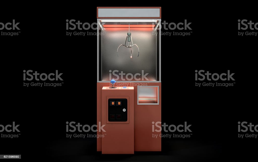 Claw Arcade Game stock photo