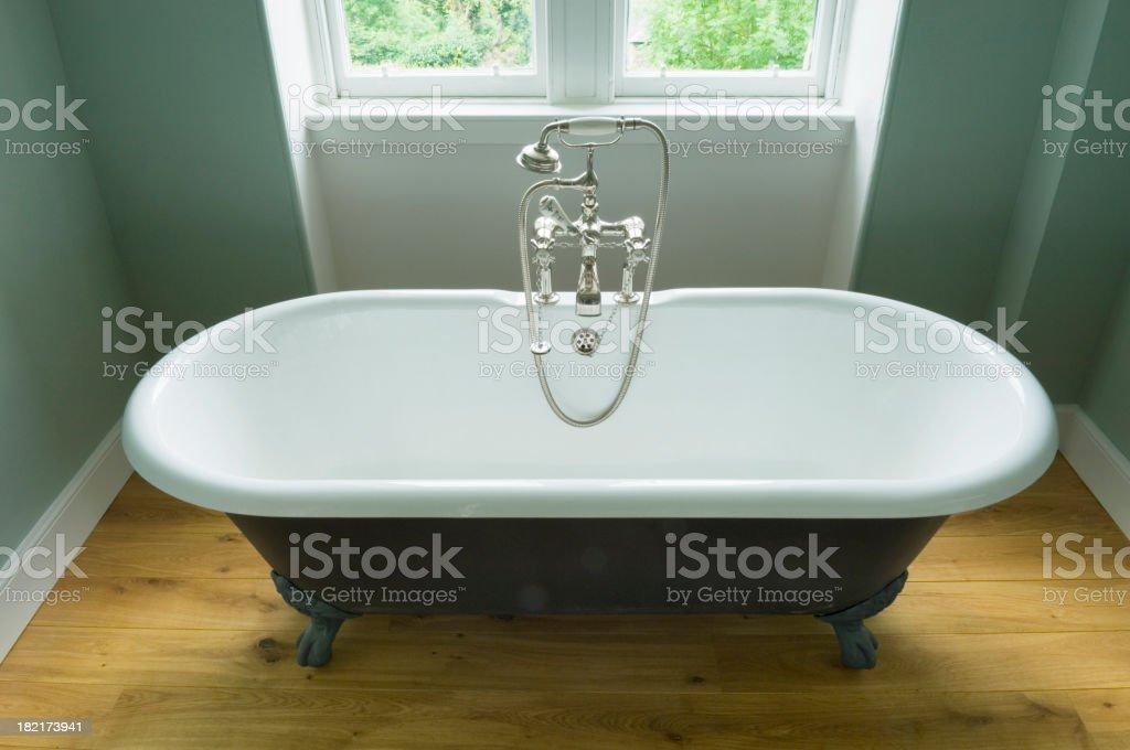Claw foot bathtub stock photo