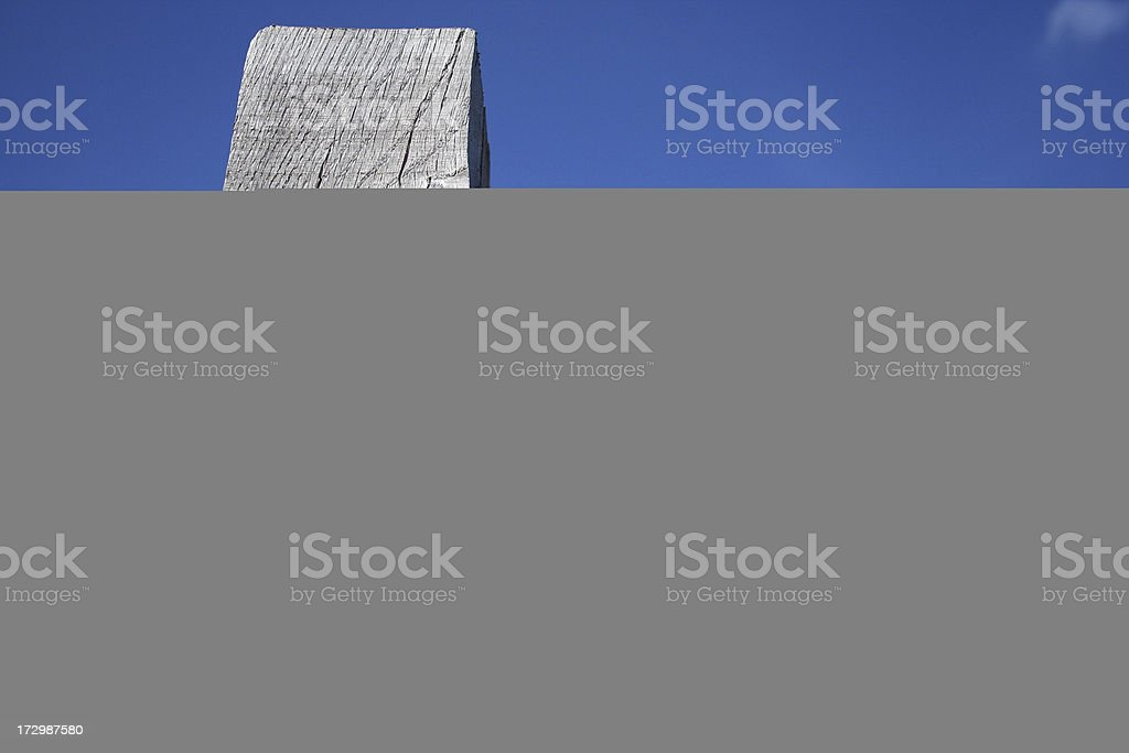 Claw hammer alone on blue background stock photo