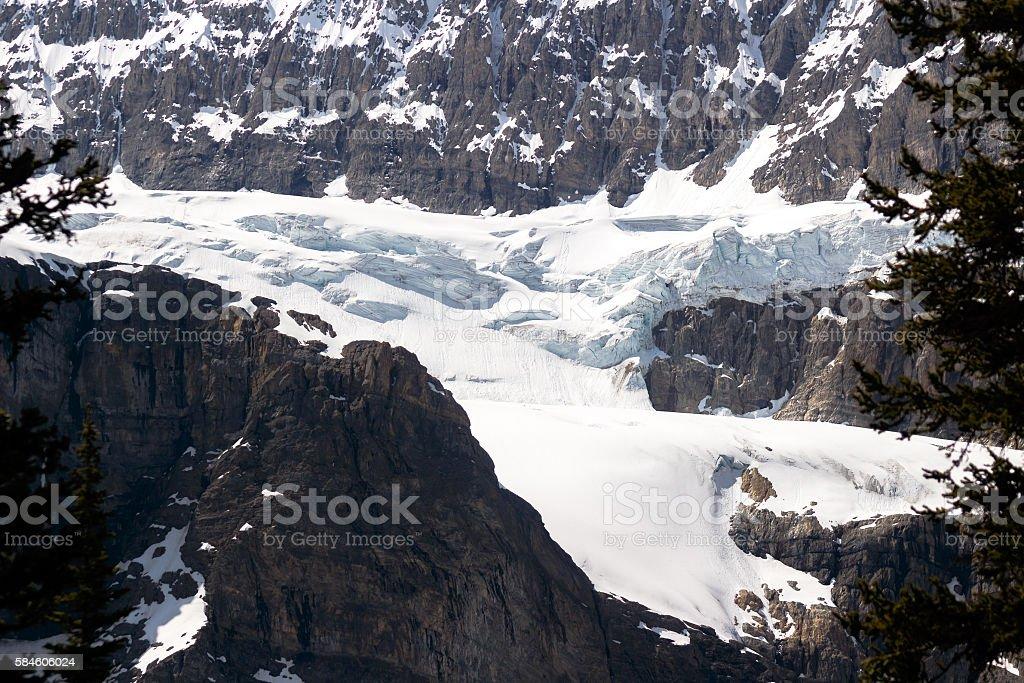 Clawfoot Glacier, Banff National Park, Alberta, Canada stock photo