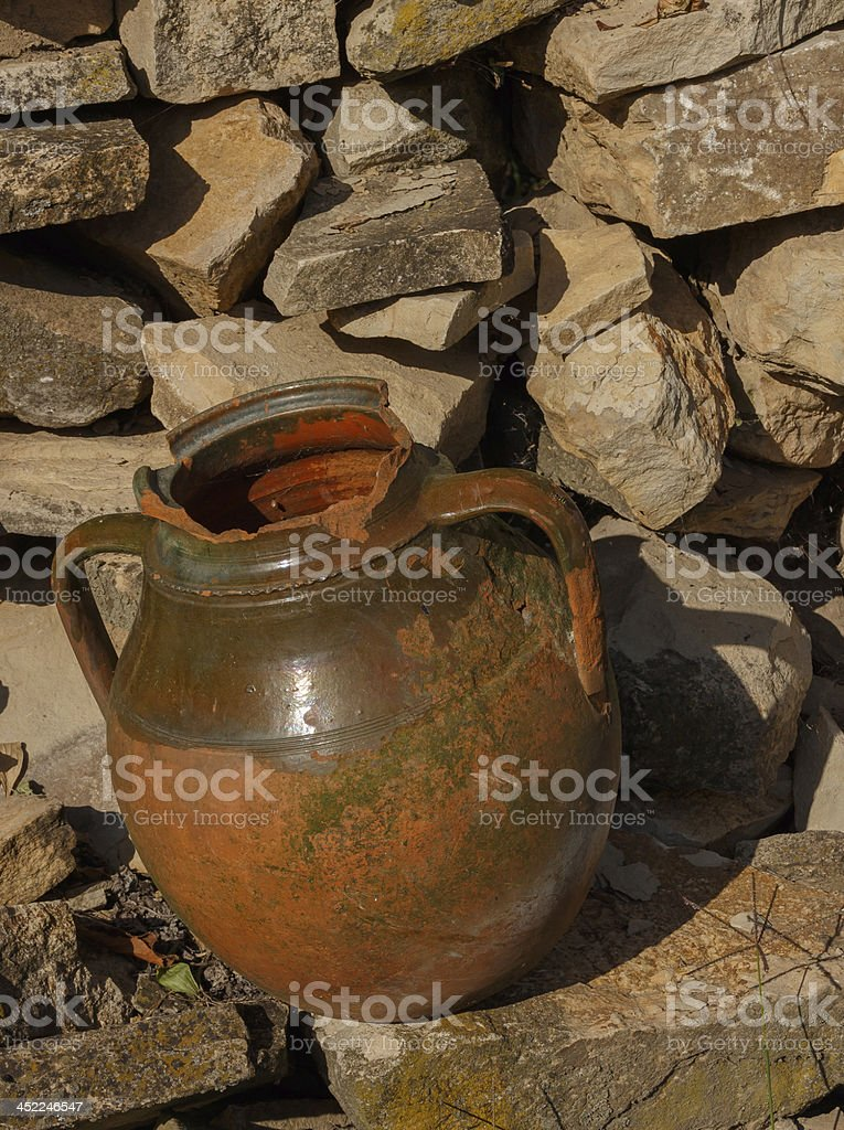 clay amphora royalty-free stock photo