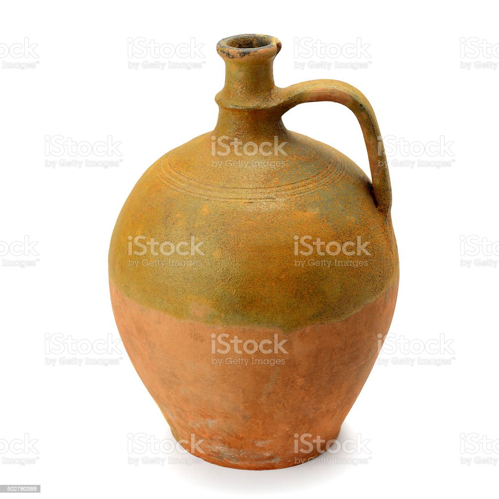 clay amphora stock photo