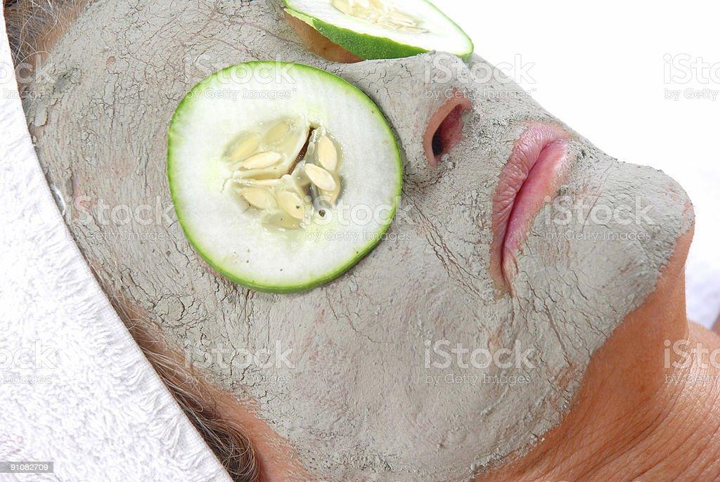 Clay Beauty Mask royalty-free stock photo