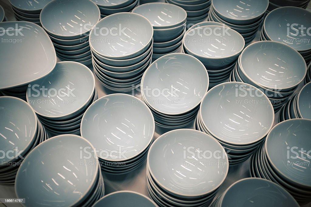 Clay bowls royalty-free stock photo