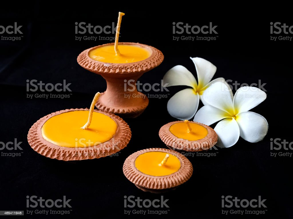 Clay candle set royalty-free stock photo