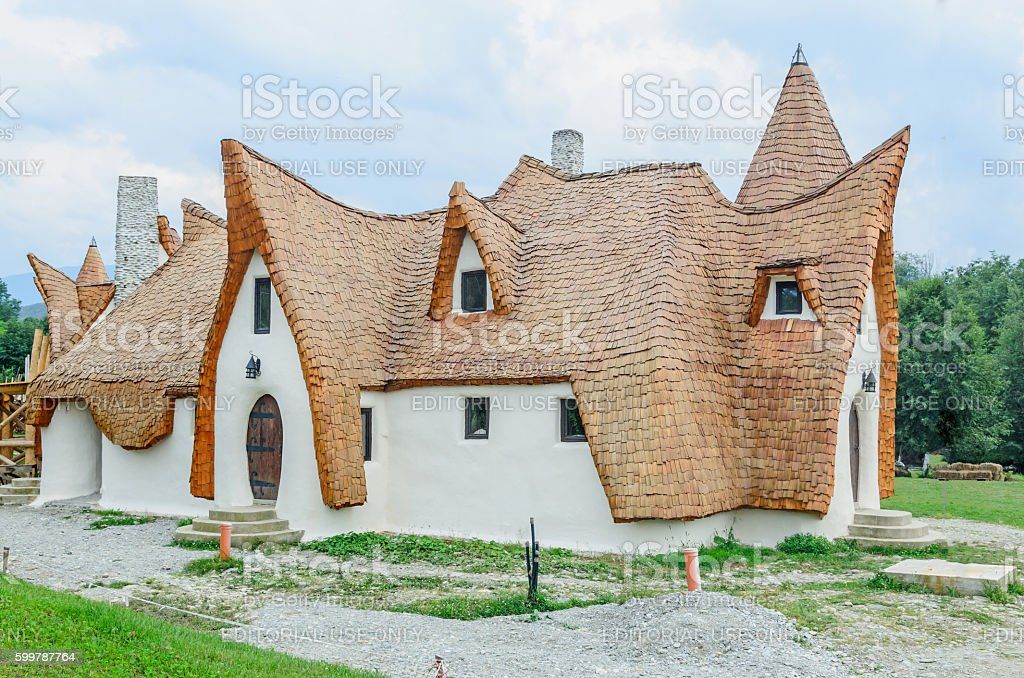 Clay Castle, The Valley of the Fairies (Castelul de Lut) stock photo