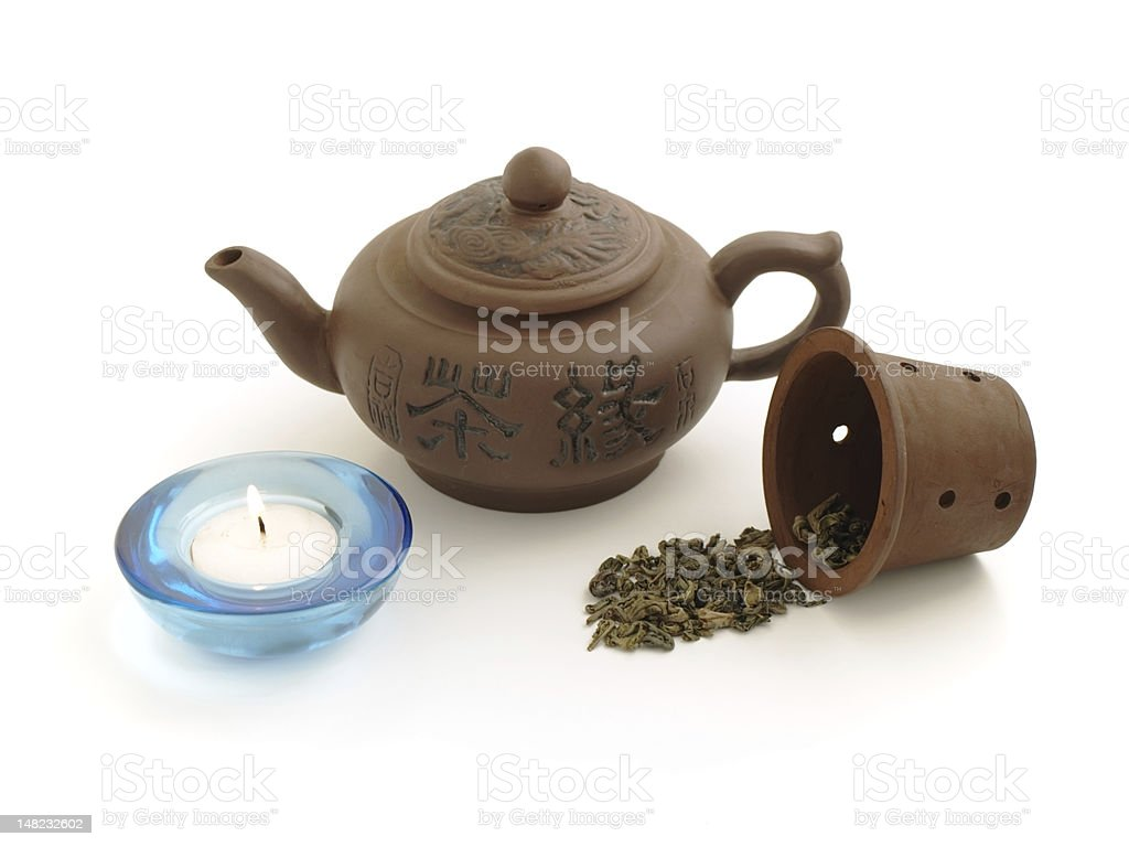 clay chinese teapot royalty-free stock photo