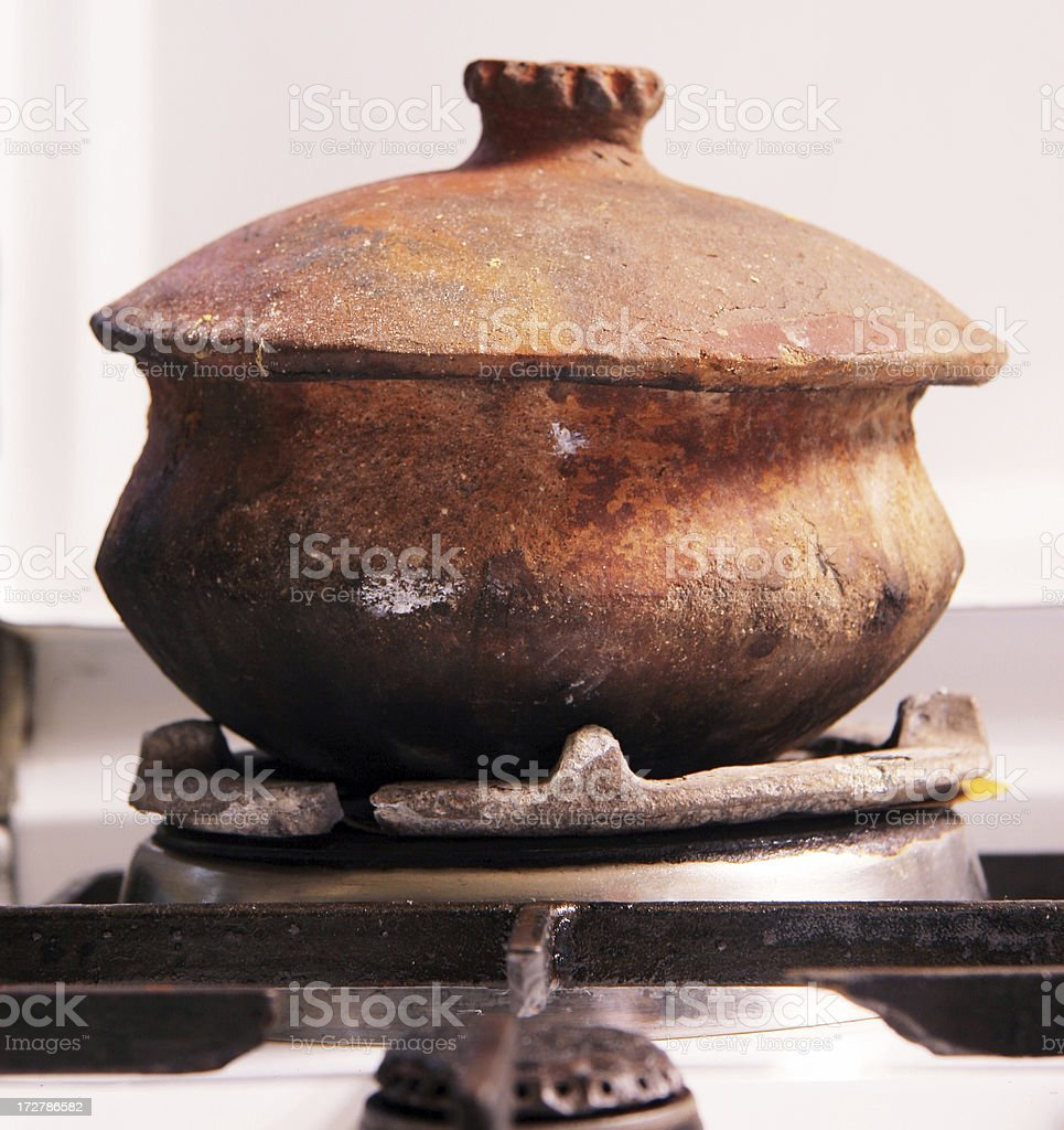 Clay Cooking Pot royalty-free stock photo