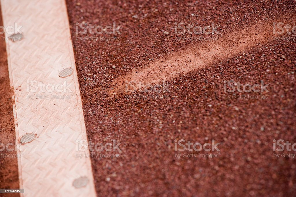 clay court ball mark royalty-free stock photo