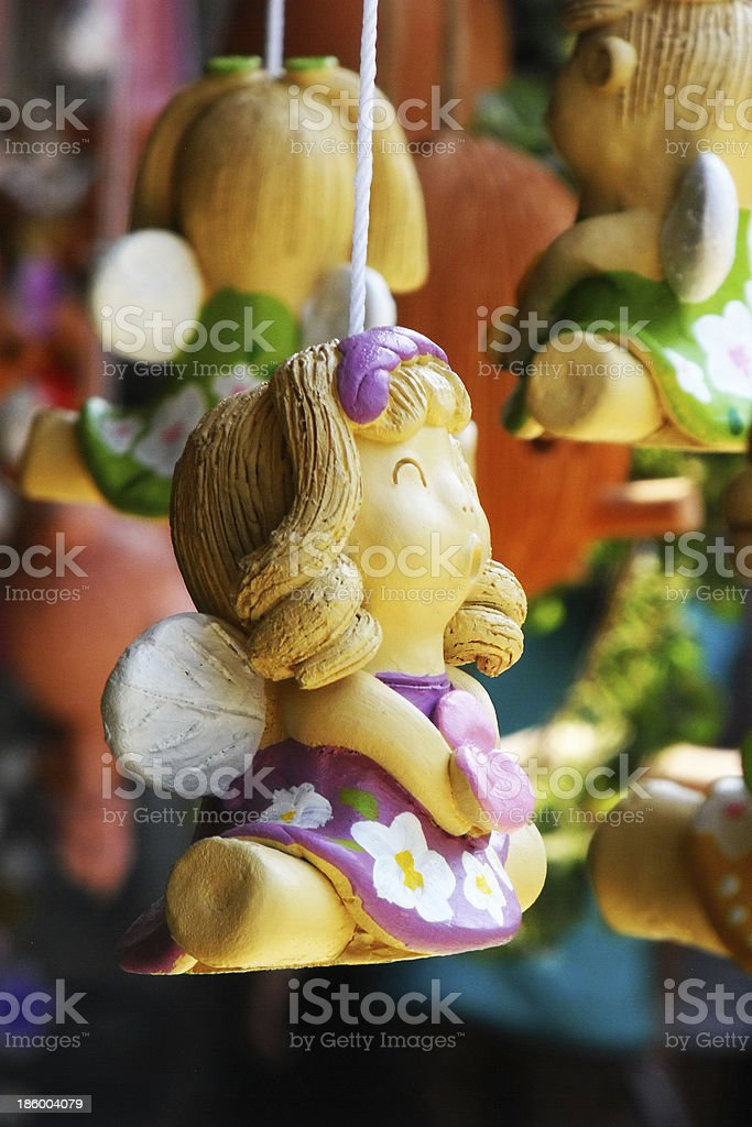 clay dolls mobile royalty-free stock photo