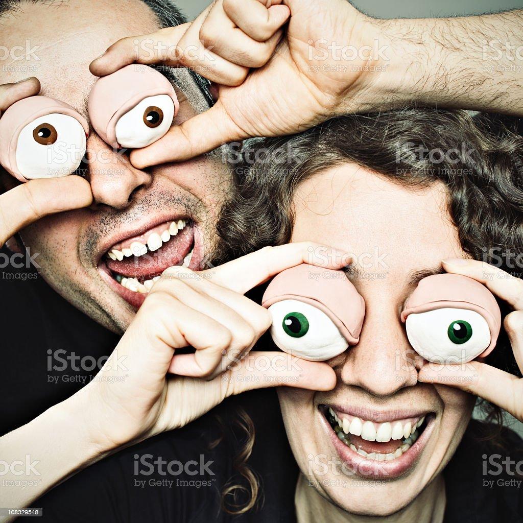 Clay eyes couple royalty-free stock photo