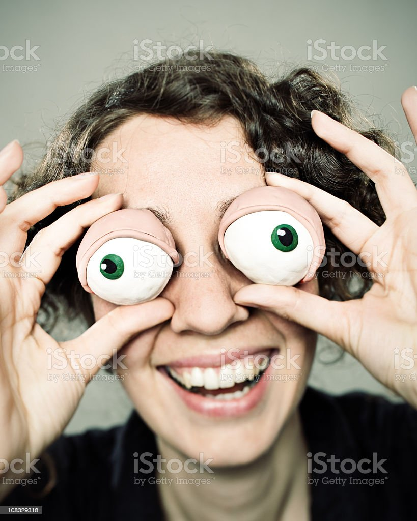 Clay eyes woman royalty-free stock photo