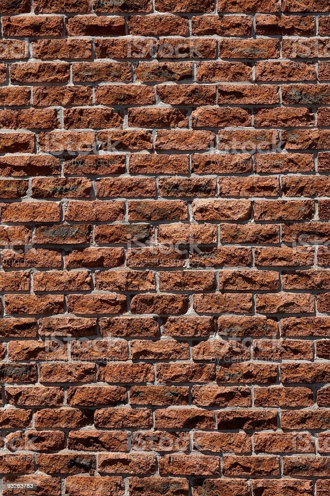 Clay face brick wall stock photo