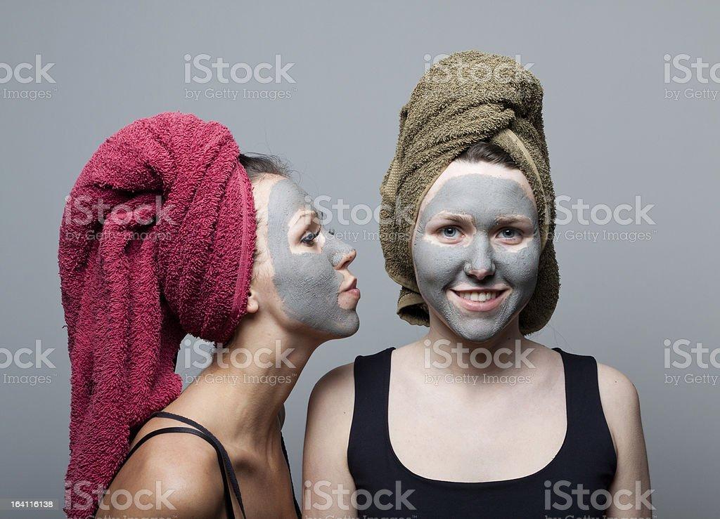 Clay facial mask royalty-free stock photo