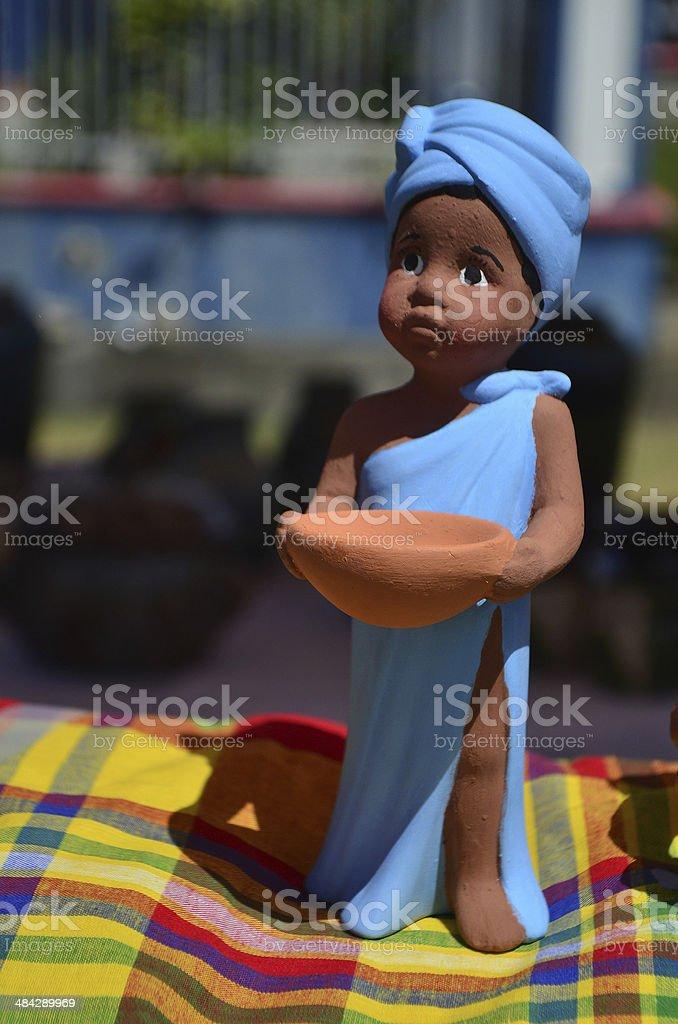 Clay figurine royalty-free stock photo