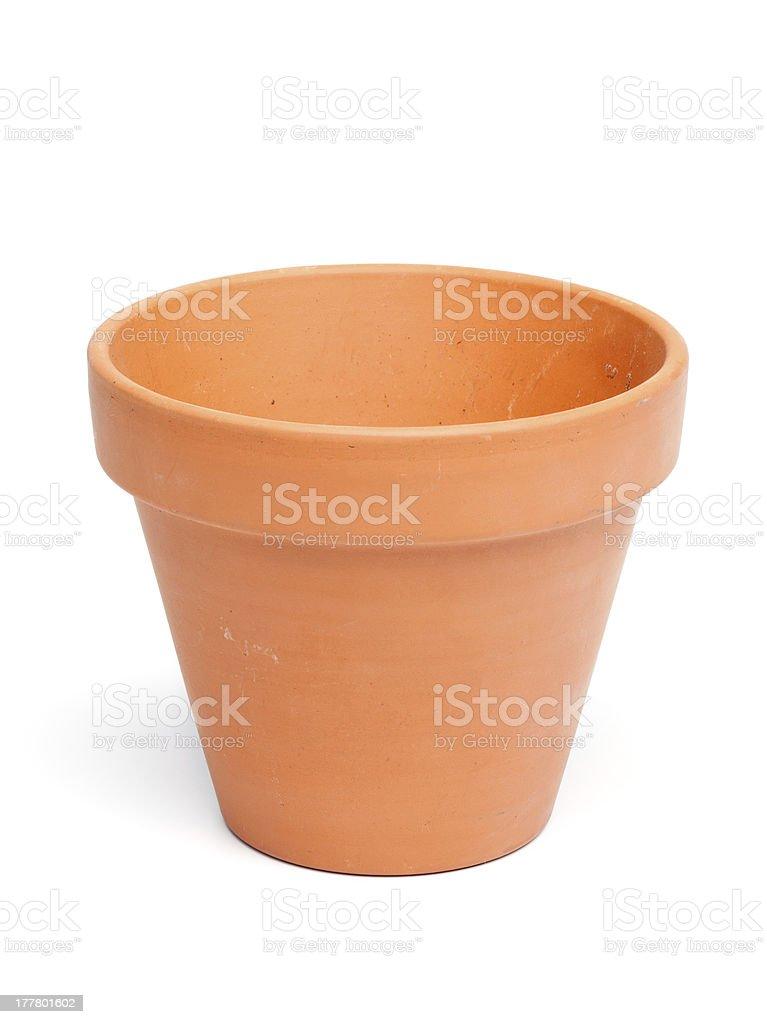 Clay Flower Pot royalty-free stock photo