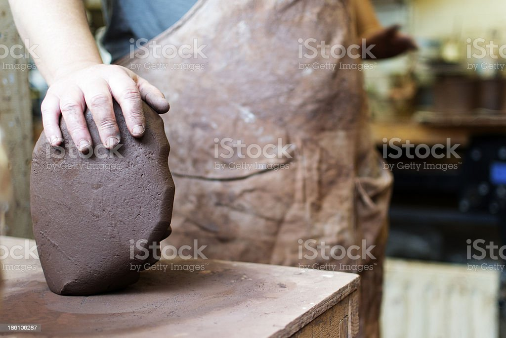Clay for making pottery royalty-free stock photo