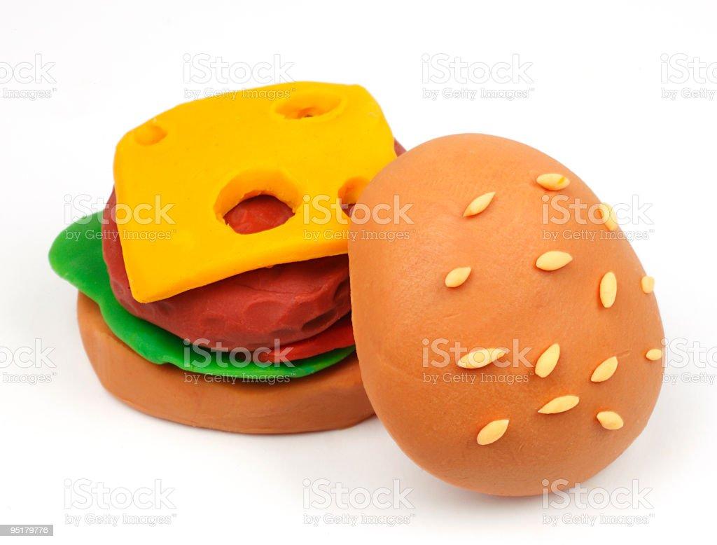 Clay Hamburger royalty-free stock photo