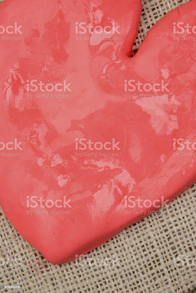 clay heart royalty-free stock photo