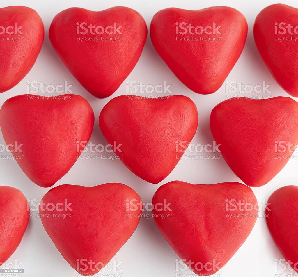 Clay Hearts royalty-free stock photo