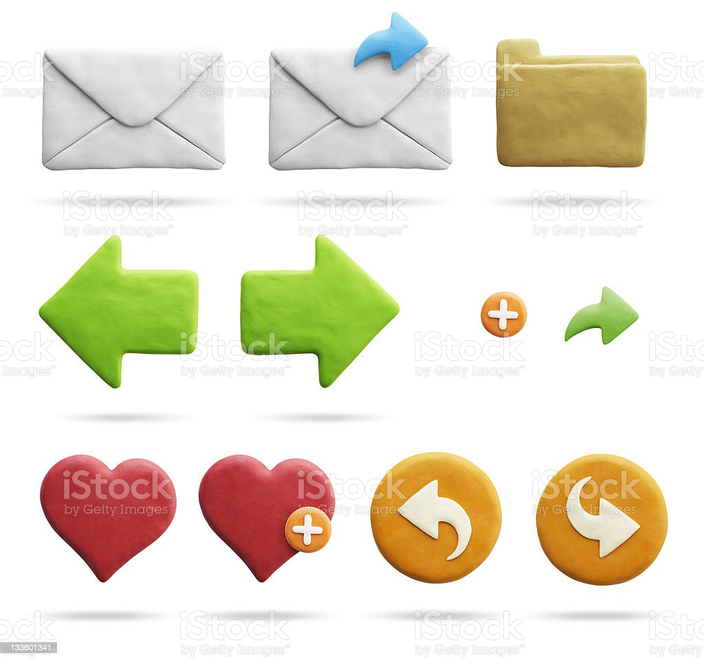 Clay Icons | Mail & Internet (with Clipping Path) royalty-free stock photo