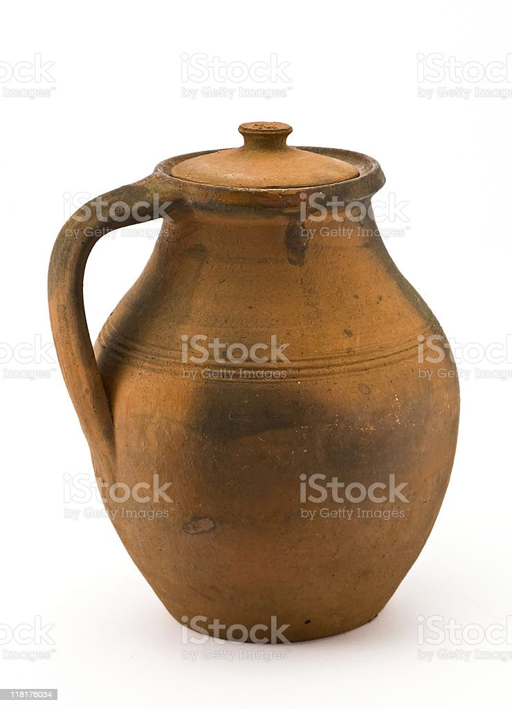 Clay jar royalty-free stock photo