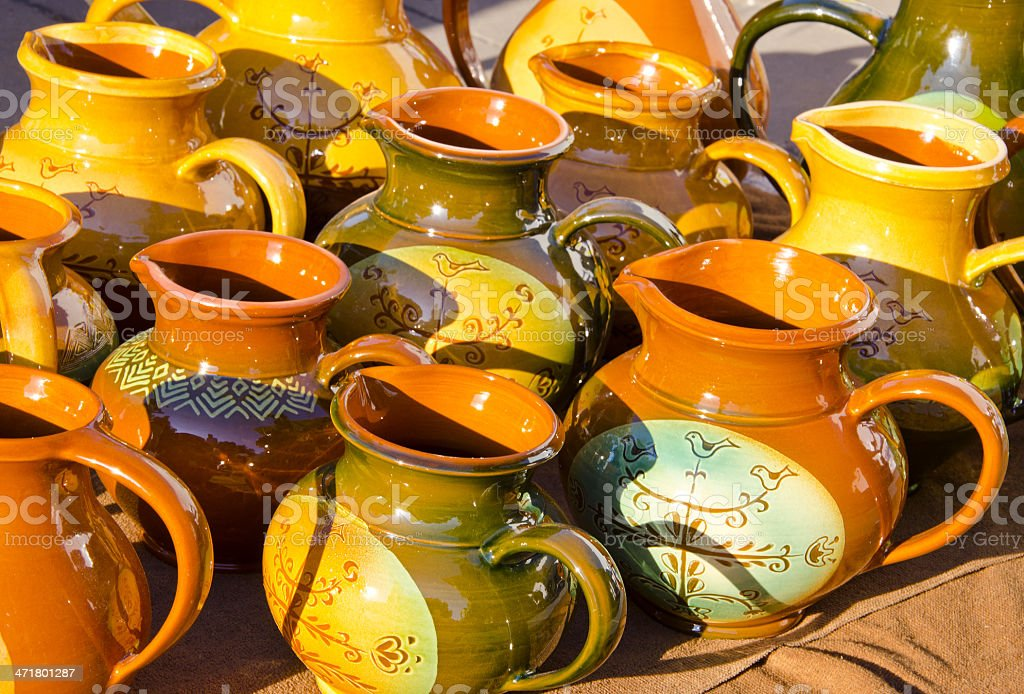 clay jars in the fair royalty-free stock photo
