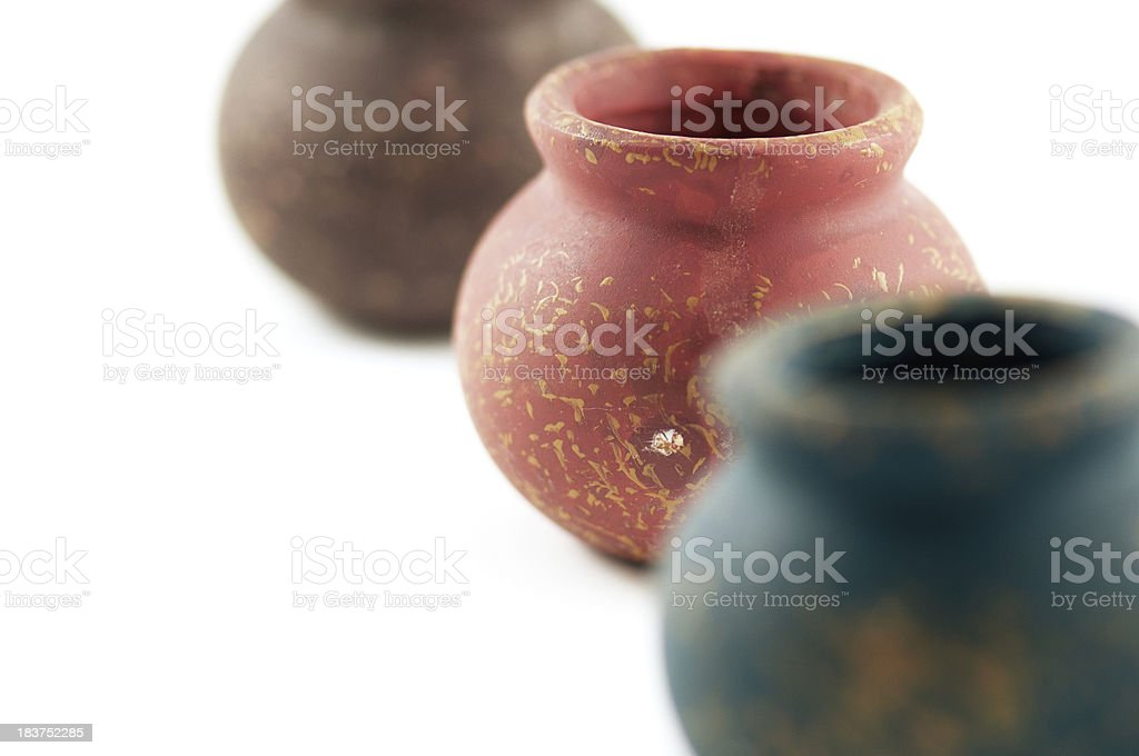 Clay jars royalty-free stock photo