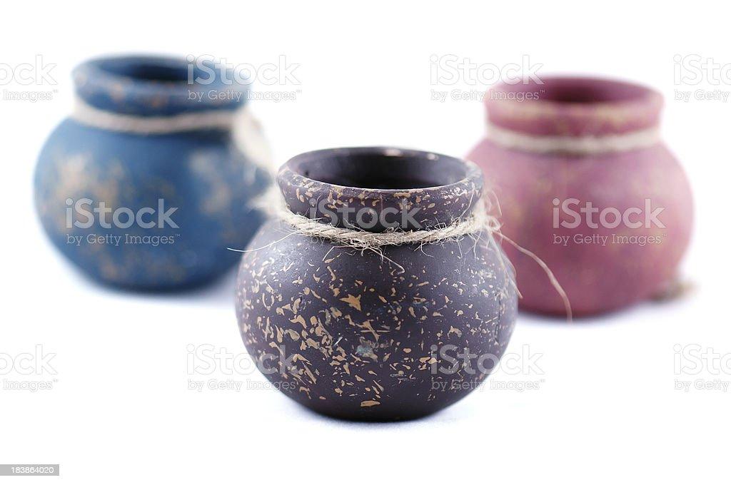 Clay jars stock photo