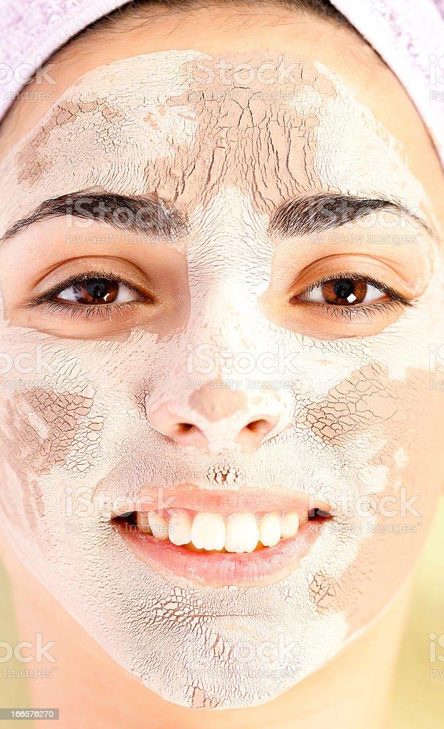 Clay Mask Treatment royalty-free stock photo