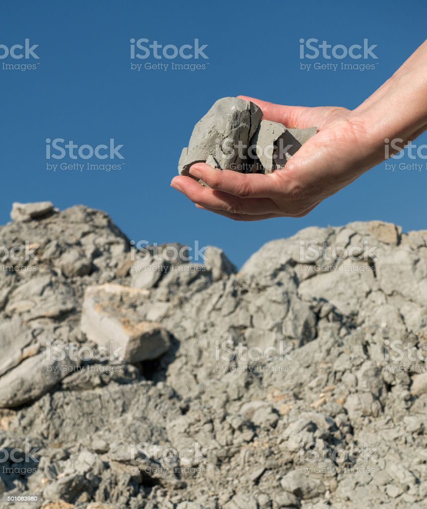 Clay Mineral stock photo