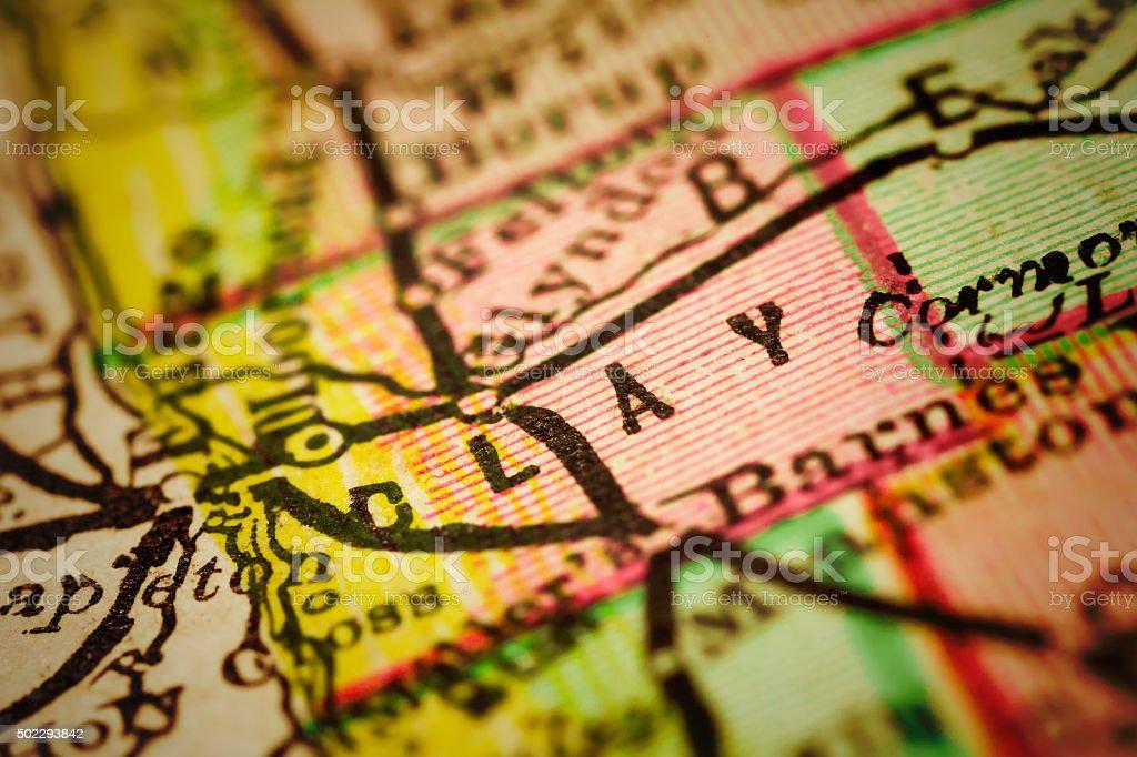 Clay | Minnesota County maps stock photo