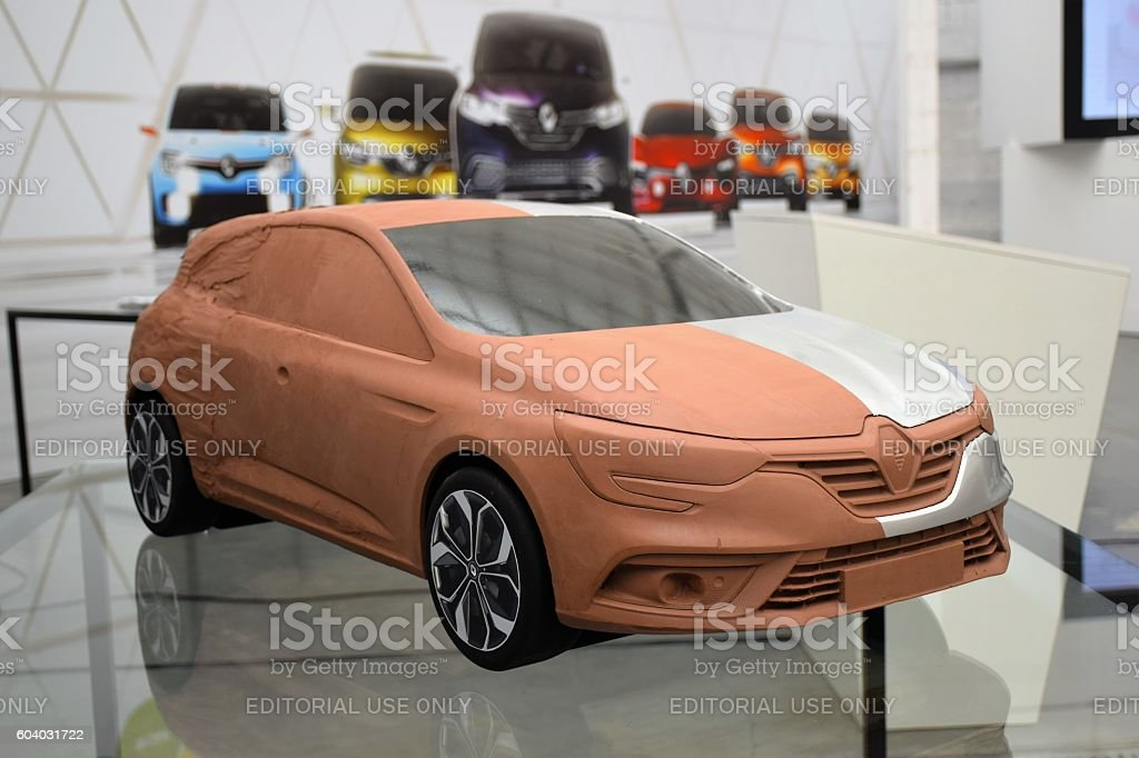 Clay model of the modern car stock photo