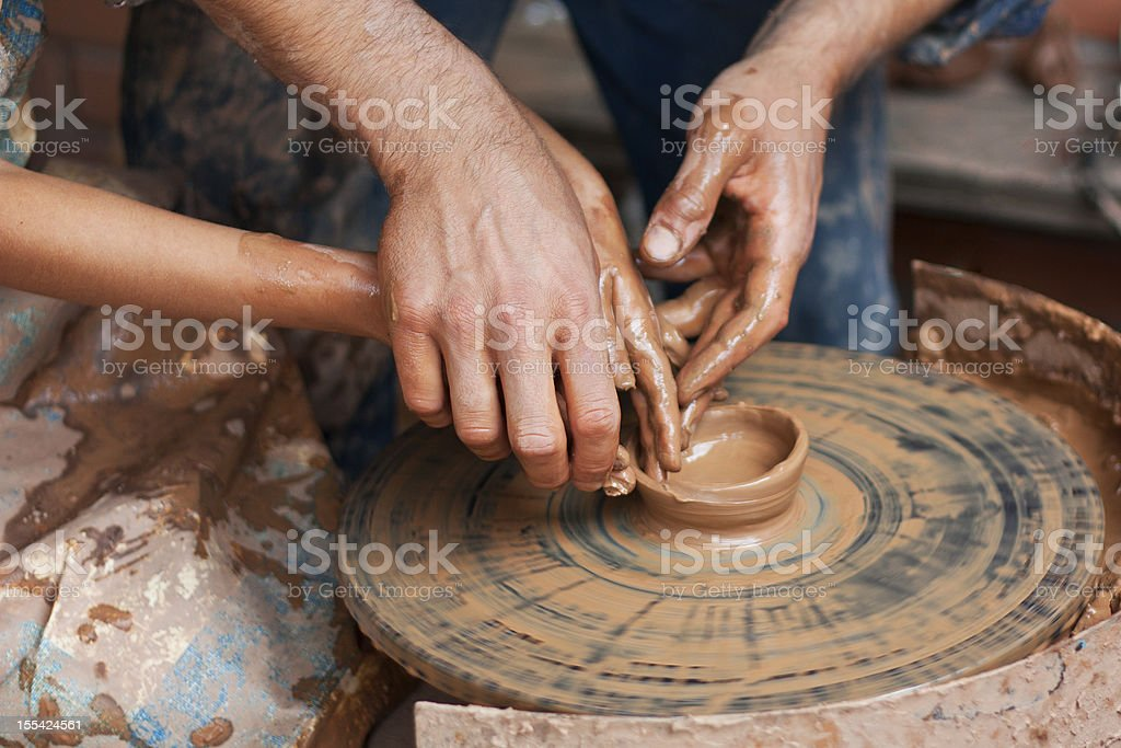 Clay modeling royalty-free stock photo