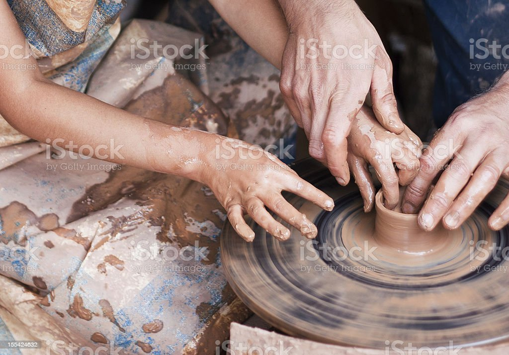 Clay modeling stock photo