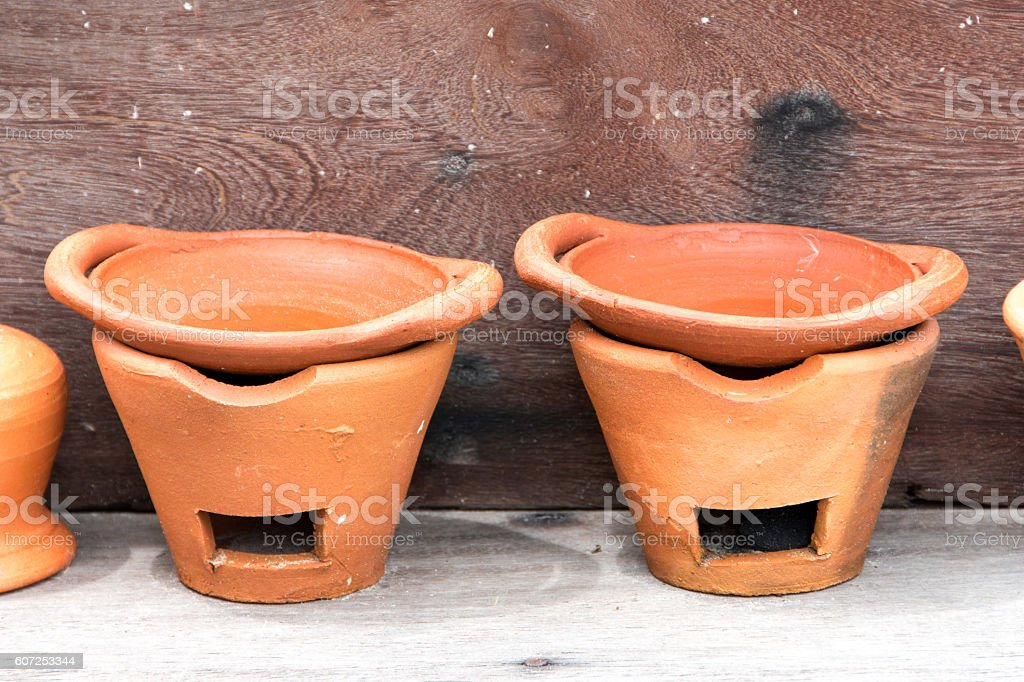clay oven stove stock photo