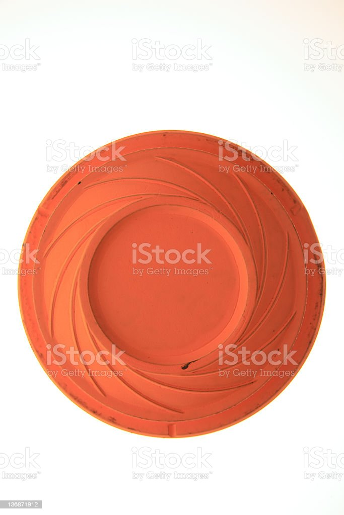 clay pigeon from top stock photo