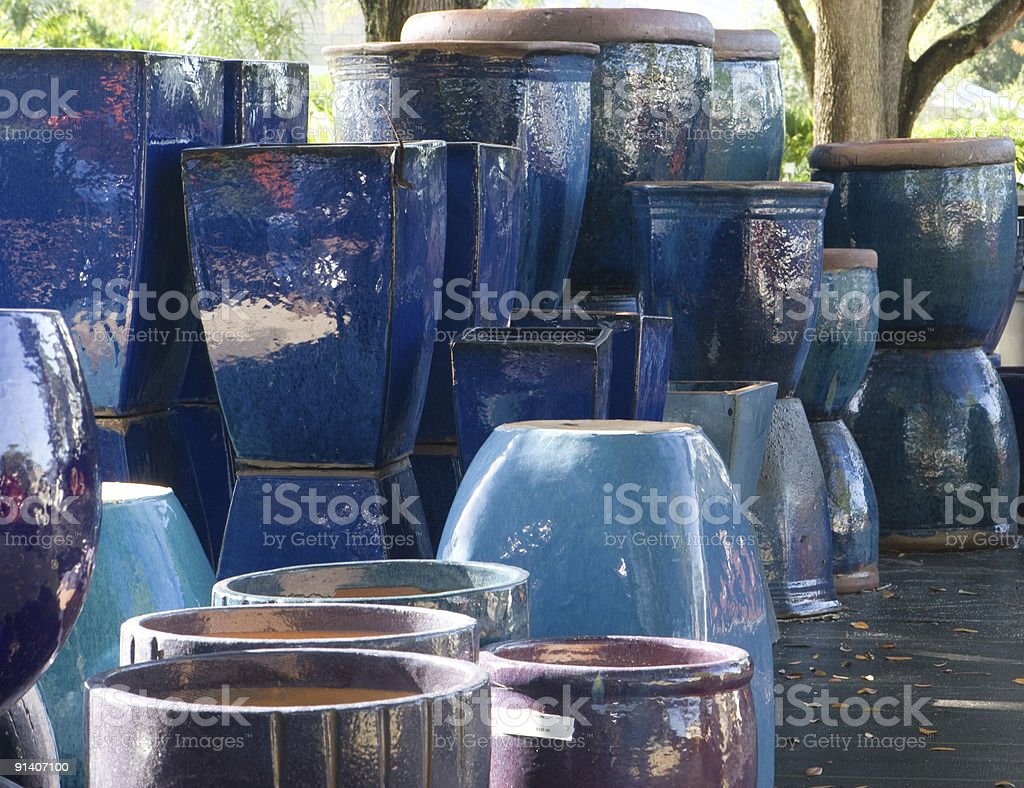 Clay Plant Pots royalty-free stock photo
