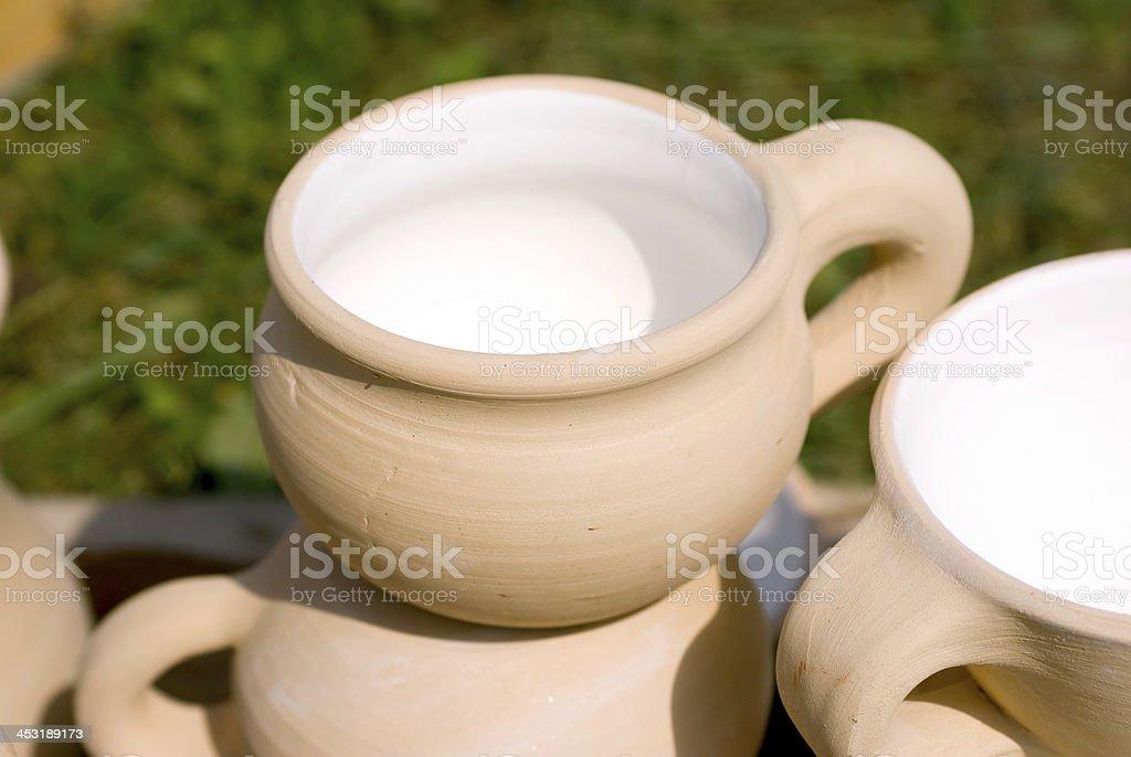 clay pottery ceramics royalty-free stock photo
