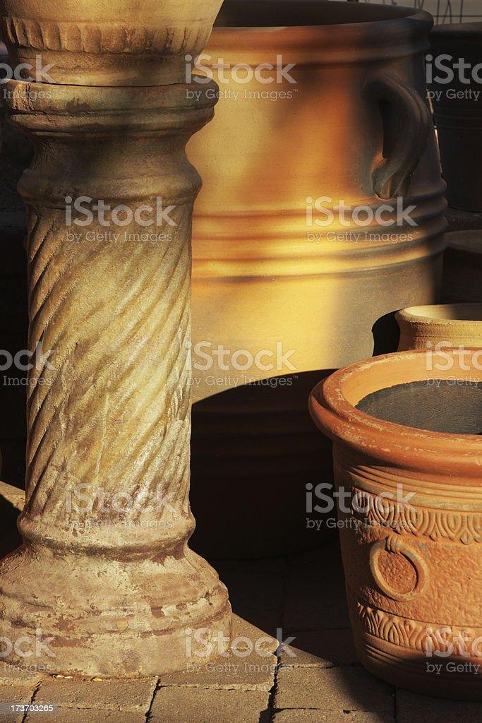 Clay Pottery Home Decor Ceramics Royalty Free Stock Photo