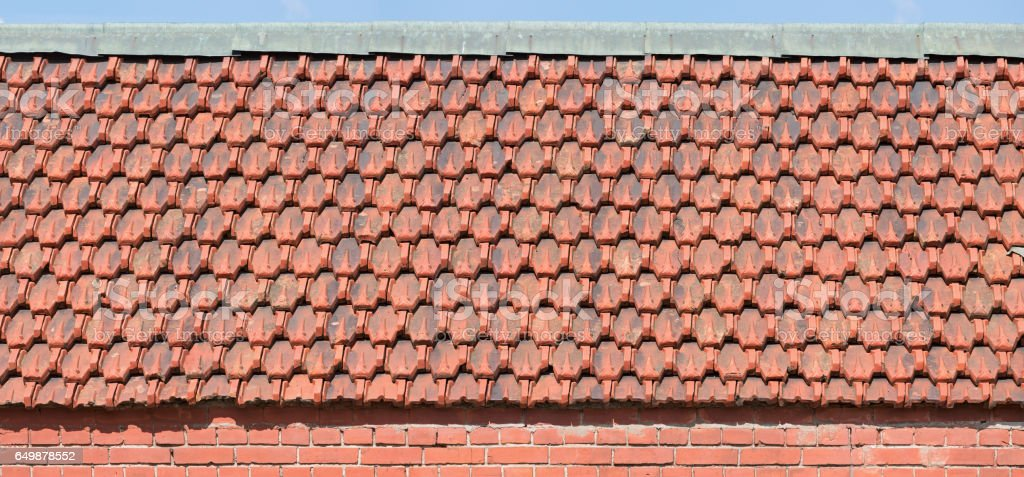 clay roof stock photo