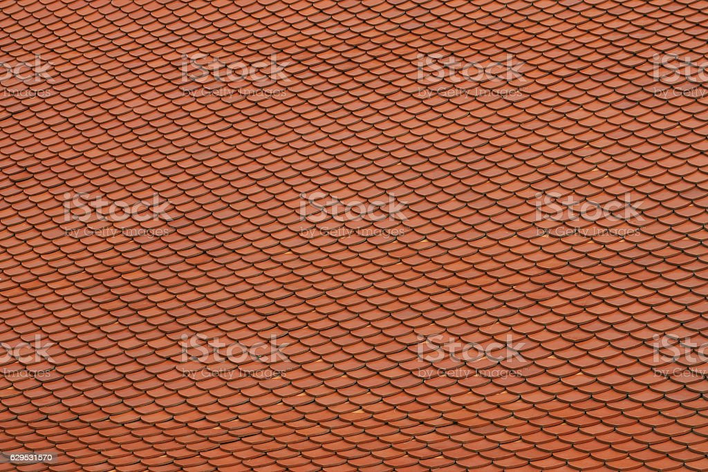 Clay roof tiles background stock photo