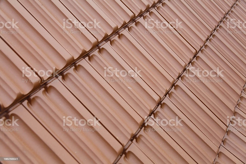 Clay roof tiles pattern royalty-free stock photo