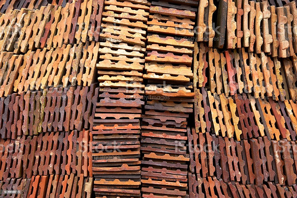 clay roof tiles royalty-free stock photo