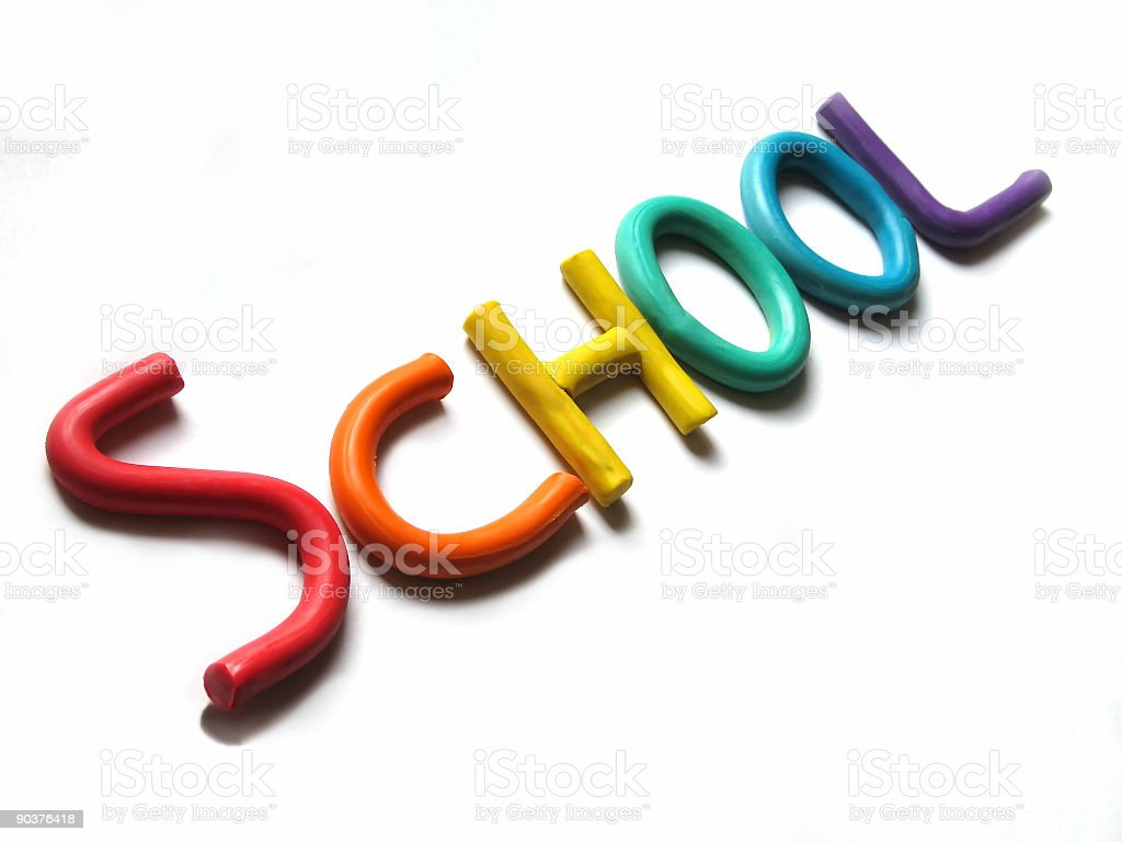 Clay School Letters royalty-free stock photo